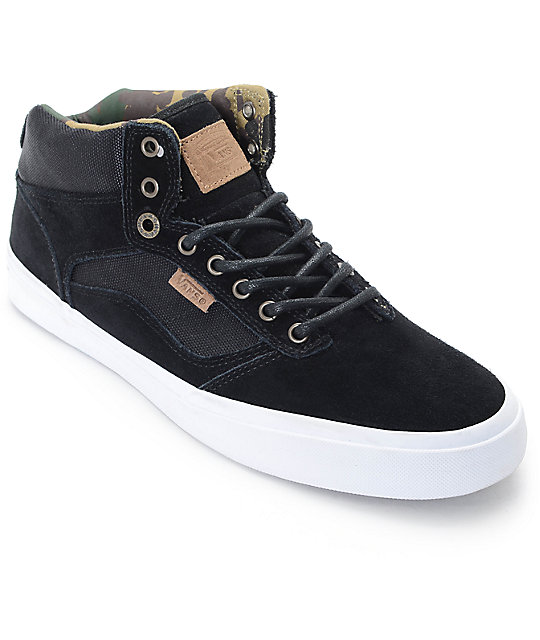 ce68ddcf63 Vans Bedford Military Black   White Skate Shoes