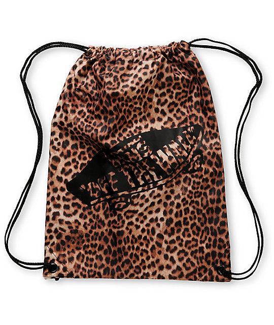 Vans Benched Leopard Drawstring Bag  0dad0f2f5adb4