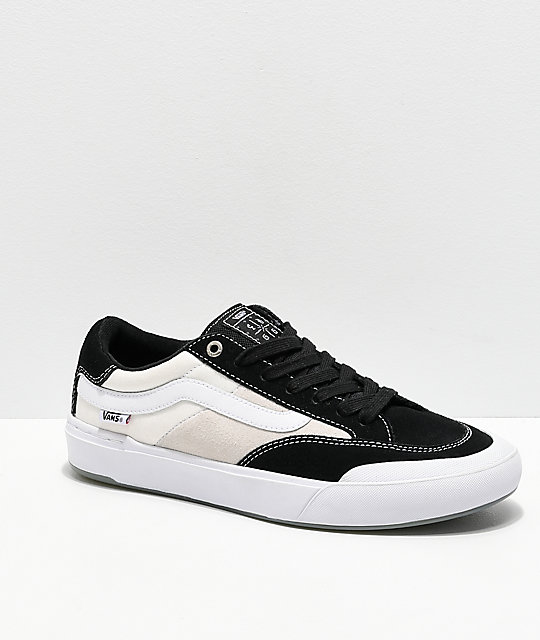 758666bfc35 Vans Berle Pro Black   White Suede Skate Shoes