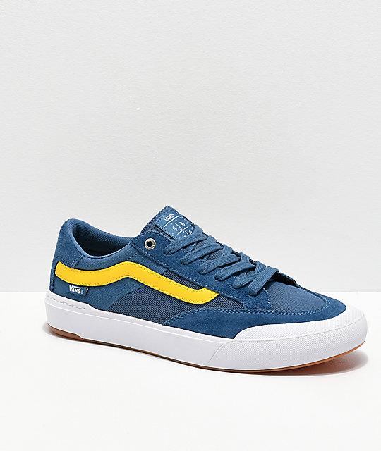 2a5942a4c74 Vans Berle Pro Navy   Yellow Skate Shoes