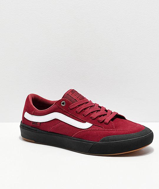 61ef7740b46 Vans Berle Pro Rumba Red   Black Skate Shoes