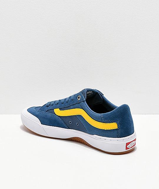 vans azules y amarillo