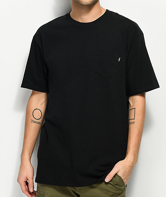 Vans Big Hit Black Pocket T-Shirt