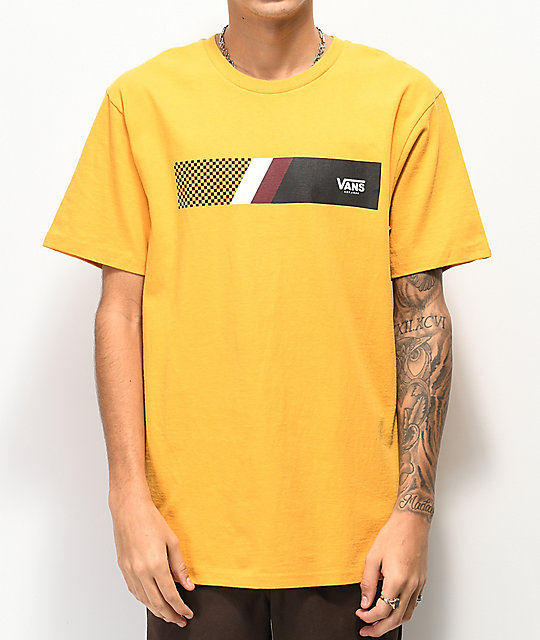 Vans Big Streak Yellow T-Shirt
