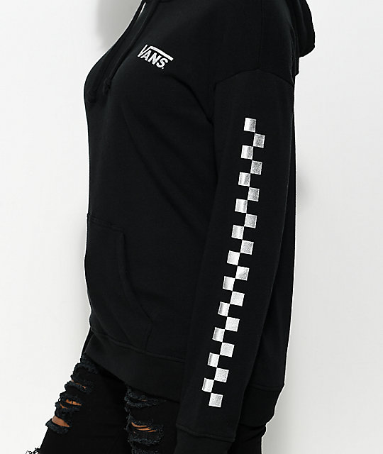 Vans Black & Metallic Checker Hoodie
