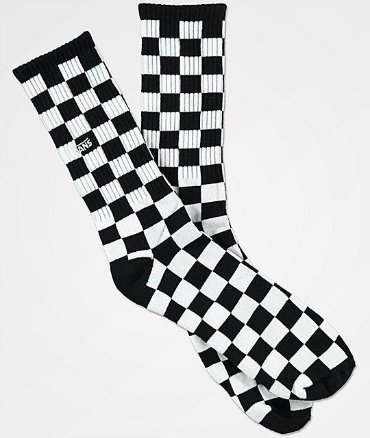 Vans Black White Checker Crew Socks