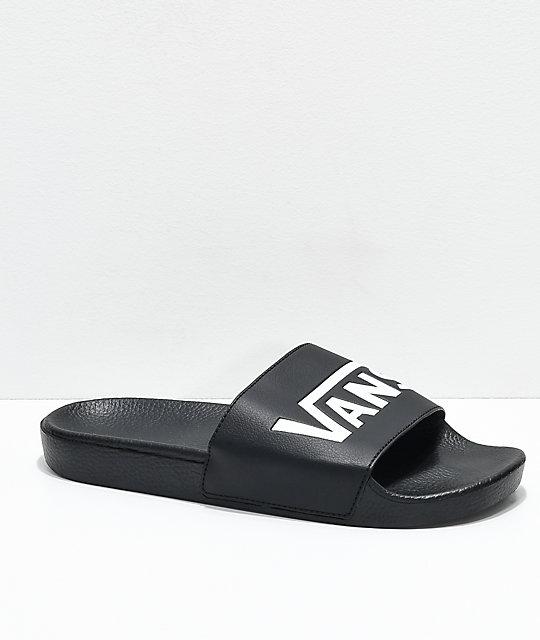 f79f8f2620b Vans Black   White Slide On Sandals