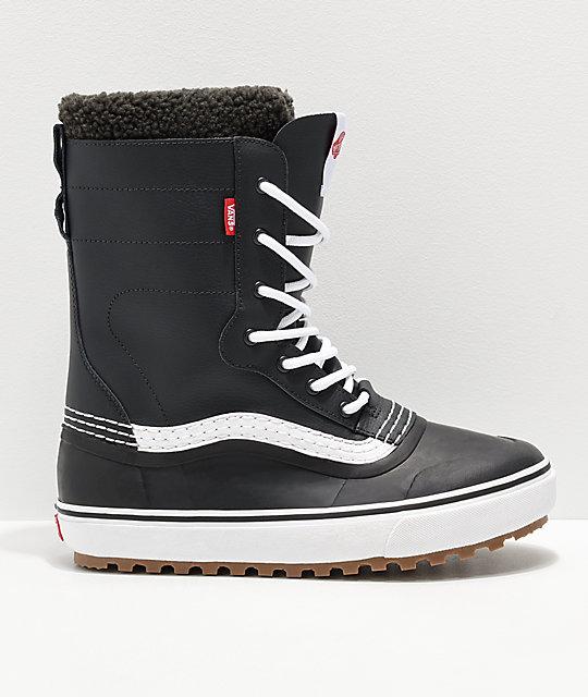 1019ff90e1d Vans Black   White Standard Snow Boots