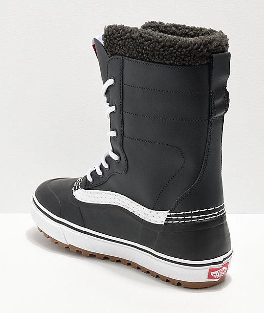 6ab86a47862 ... Vans Black   White Standard Snow Boots ...