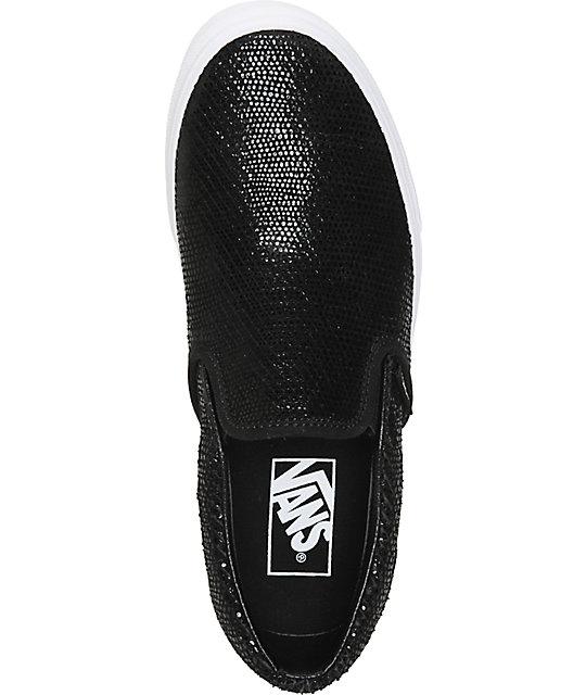 9dabab0f4c ... Vans Black Pebble Snake Slip-On Shoes ...