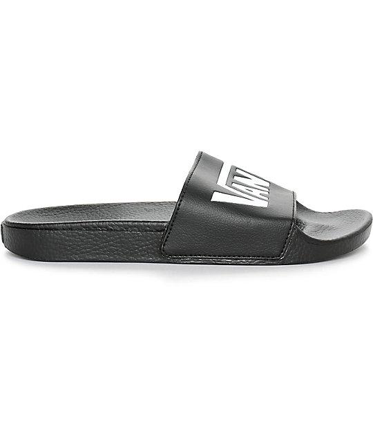 cf3ef5c65d7e ... Vans Black Slide Sandals