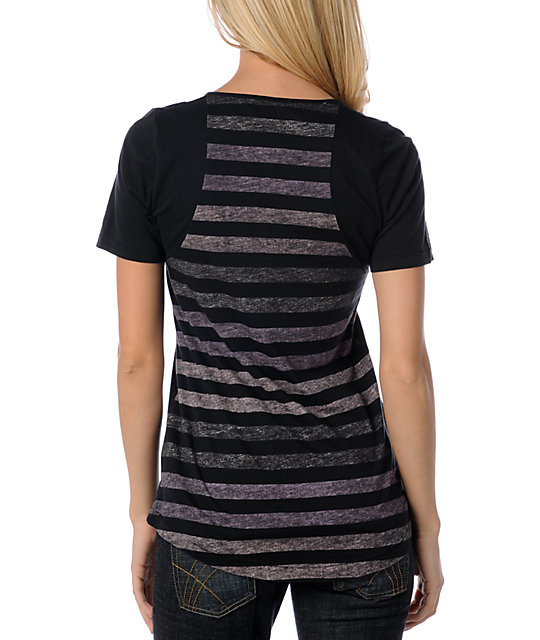 Vans Bolsa Black Stripe Knit Top