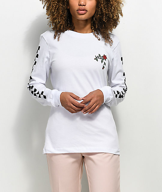 Vans Born To Roam White Long Sleeve T-Shirt