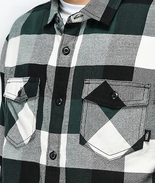 Vans Box Green & White Flannel Shirt