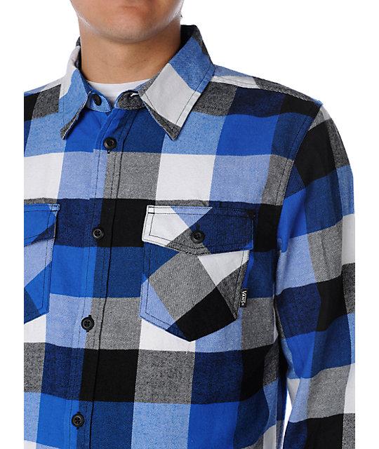 a47af8759e ... Vans Box Royal Blue Flannel Shirt
