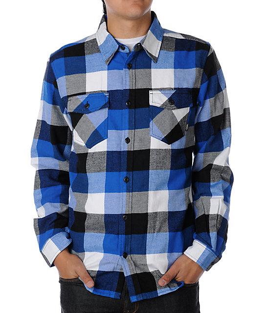 66d3988c24 Vans Box Royal Blue Flannel Shirt