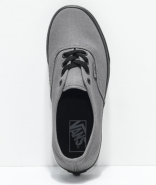 Vans Boys Authentic Black Pewter Canvas Skate Shoes
