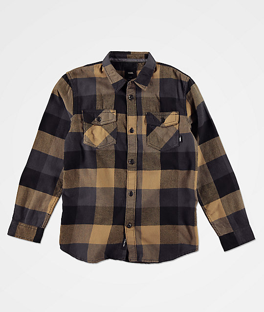 Vans Boys Box Dirt Black Flannel Shirt Zumiez