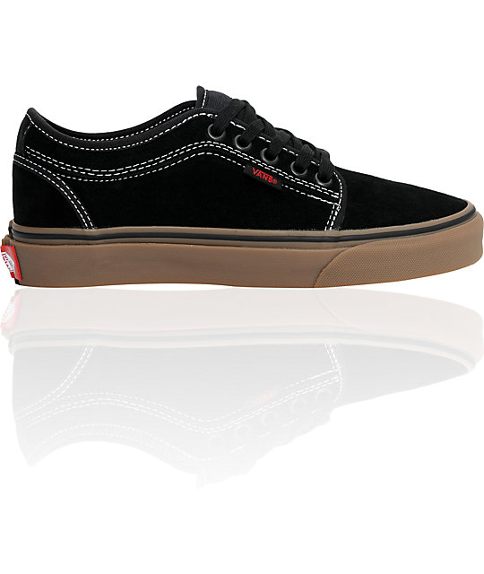 Vans Boys Chukka Low Black & Gum Shoes