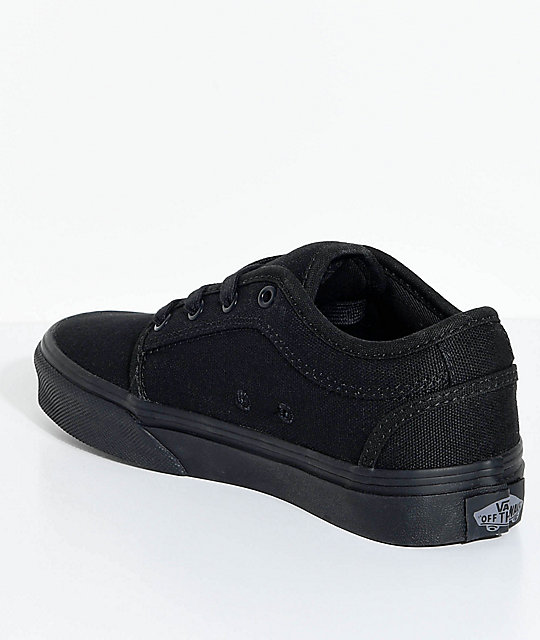 Vans Boys Chukka Low Blackout Shoes