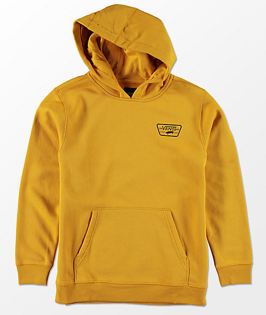 68d81990ed Vans Boys Full Patched Yellow Hoodie
