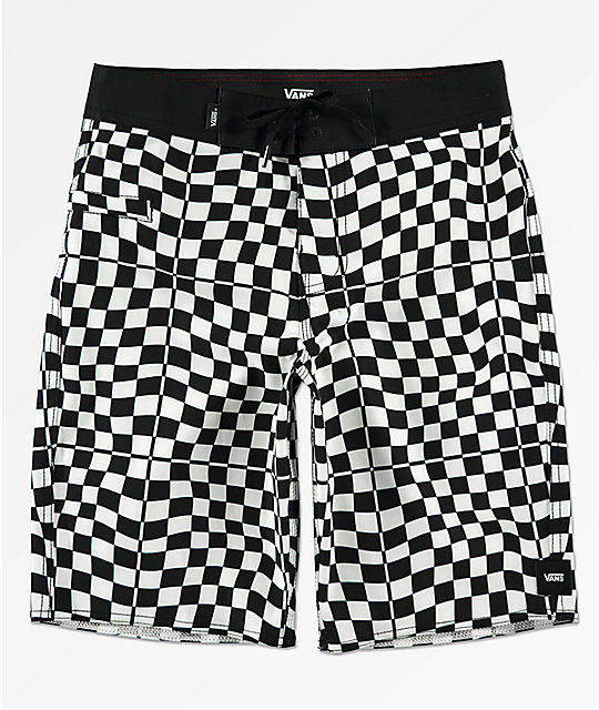 Vans Boys Mixed Black & White Checkerboard Board Shorts
