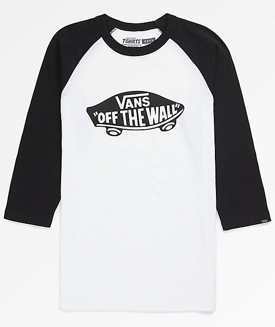 f7593afe8688b Vans Boys OTW Black & White Raglan T-Shirt | Zumiez.ca