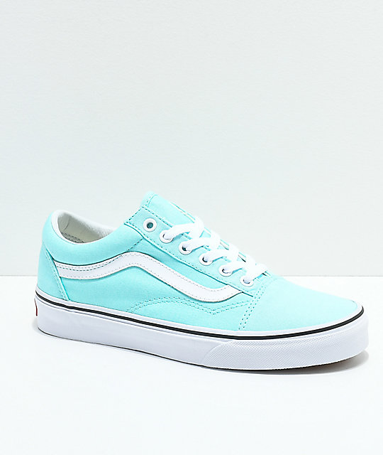 Vans Boys Old Skool Island Paradise & White Skate Shoes
