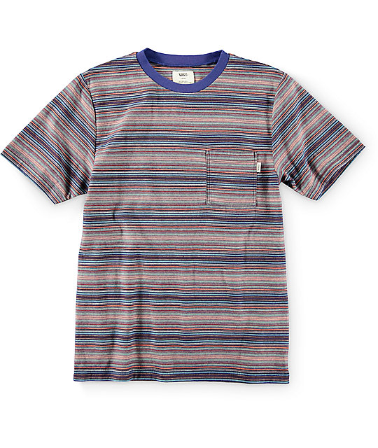 Vans Boys Ramsey Blueprint Knit Pocket T-Shirt