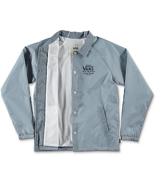 315fd90ee5 ... Vans Boys Torrey Grey Coaches Jacket
