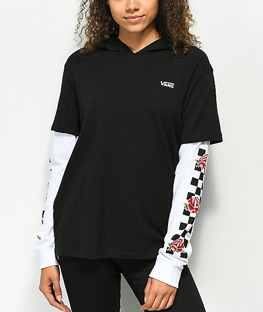 t shirt over long sleeve