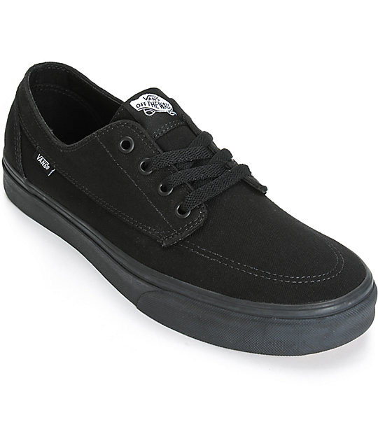 Zapatos negros Vans Brigata para mujer 1S3o6r