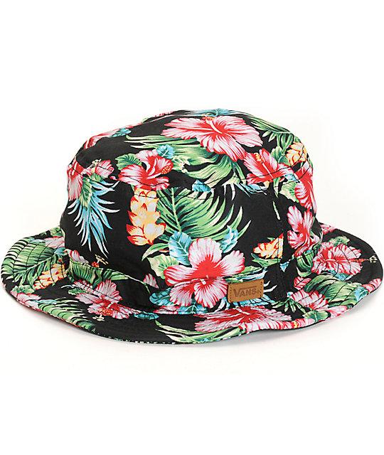 Vans Brohola Hawaiian Floral Bucket Hat  a2a48623d6e