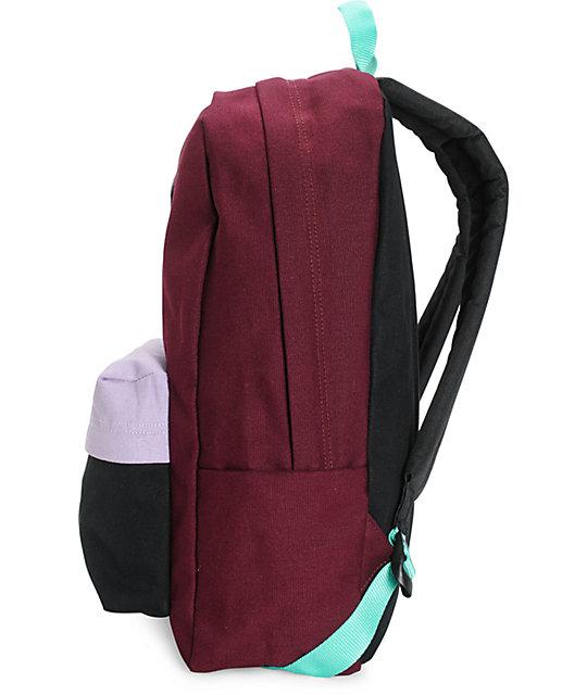 ... Vans Burgundy   Lavender Colorblock Backpack ...