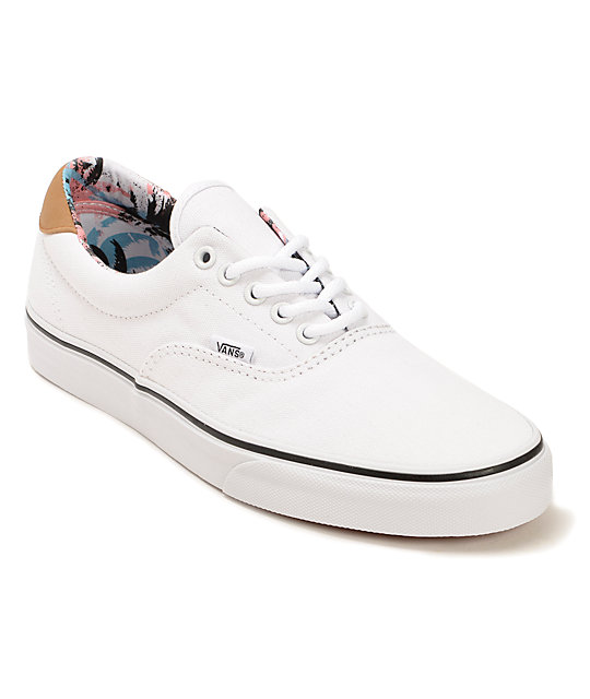 5e0da5a28fb Vans C F Era 59 True White Skate Shoes