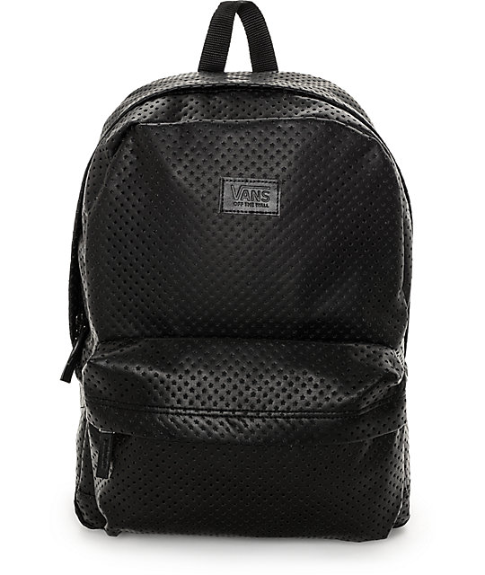 92ae0e16fb Vans Cameo Black Perforated Backpack