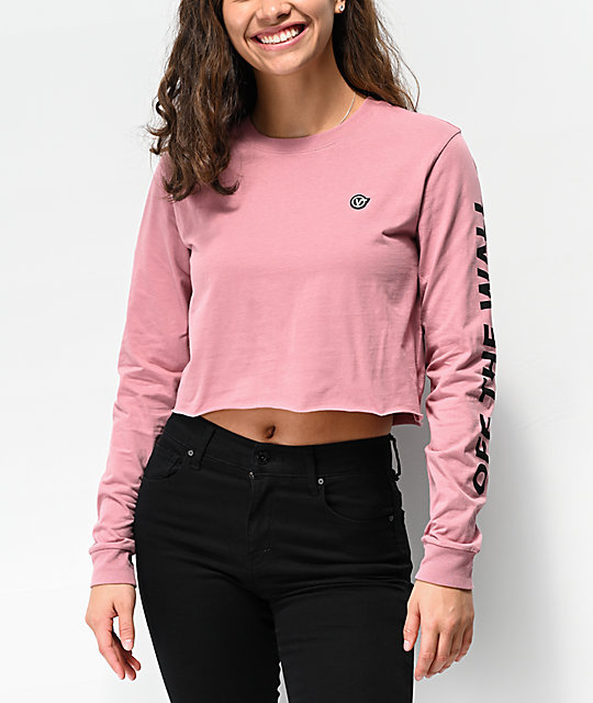 Vans Castmore Rose Long Sleeve Crop T Shirt by Vans