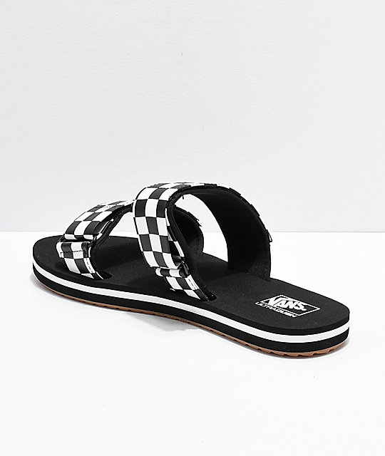 76dea41da9b4 ... Vans Cayucas Checkerboard 2 Strap Slide Sandals ...