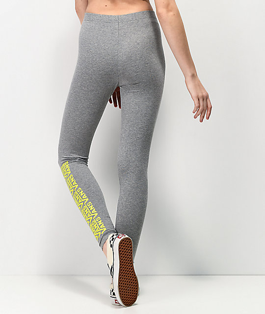 Vans Chalkboard Fair Well Grey & Yellow Leggings