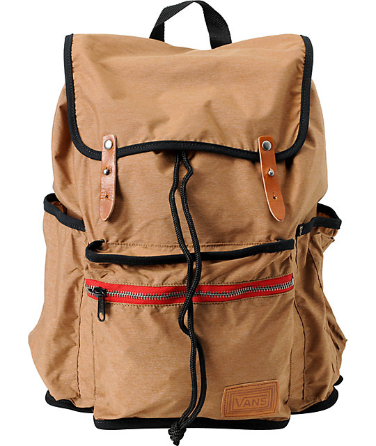Vans Chambers Toffee Brown Laptop Backpack