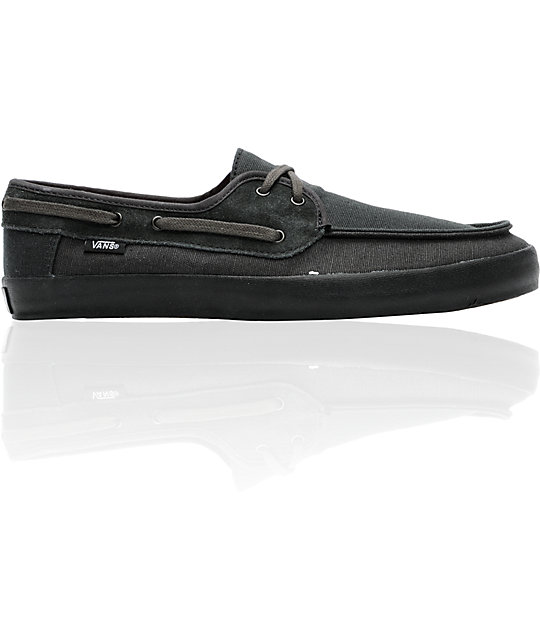 Vans Chauffeur Black Boat Skate Shoes
