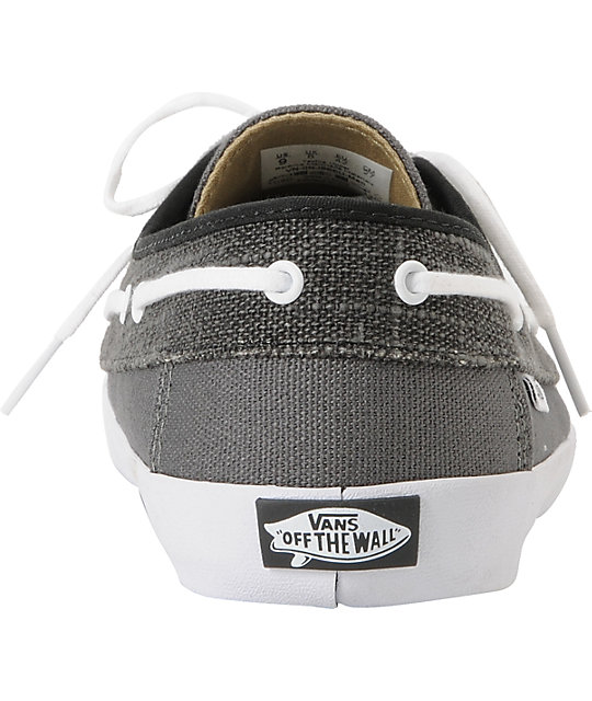 Vans Chauffeur Pewter & Black Boat Skate Shoes