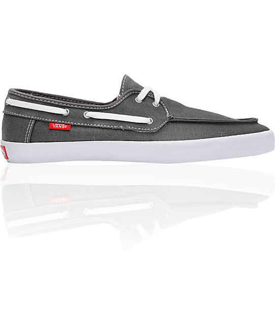 e2e87183be Vans Chauffeur Pewter   Red Boat Skate Shoes