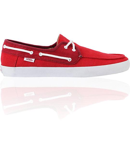 Chauffeur Boat Skate Shoes Red Vans Zumiez zqdZvvg
