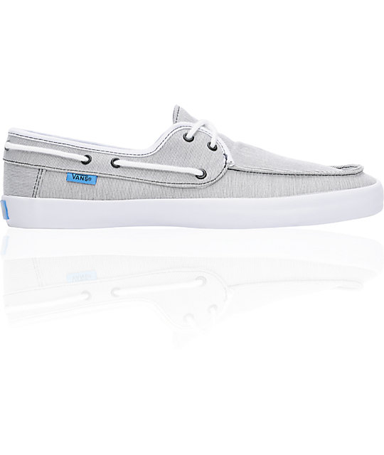 Vans Chauffeur Stripe Black & Cyan Boat Skate Shoes