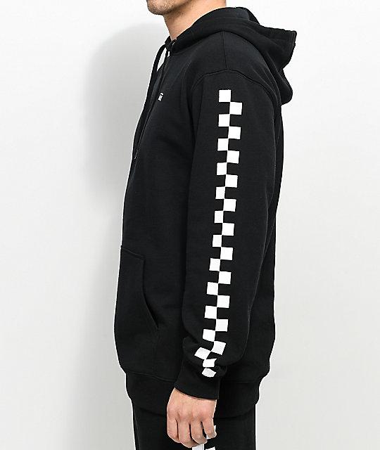 black and white vans hoodie