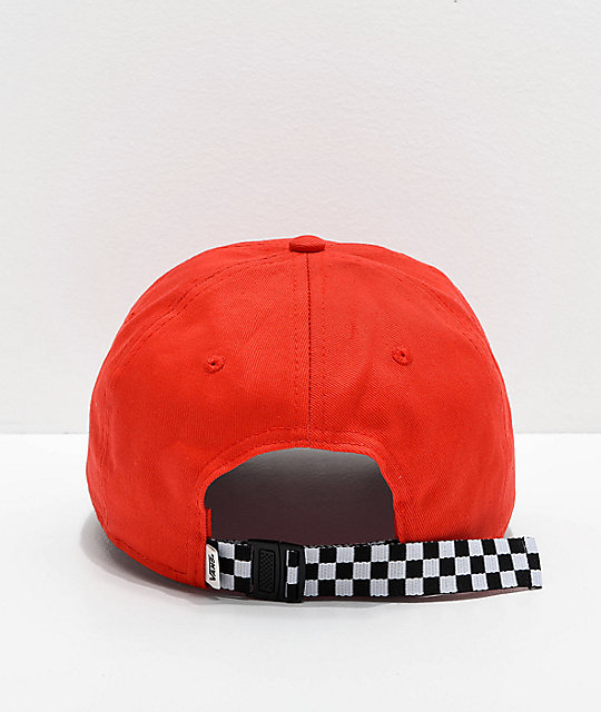 Vans Check It Poppy gorra roja de cuadros