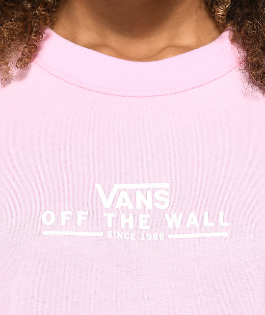 eff91ef7c16 ... Vans Checker OTW Pink Long Sleeve T-Shirt ...