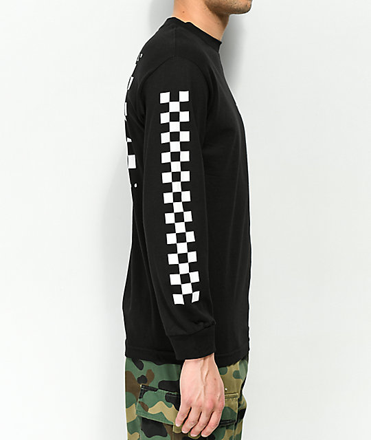 aa483d387fabfc ... Vans Checker Side Stripe Black Long Sleeve T-Shirt