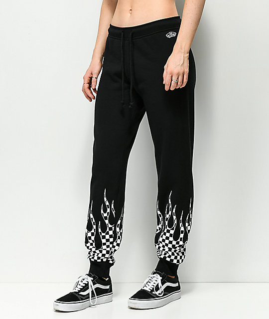 Vans Checkerboard Flame Black Sweatpants